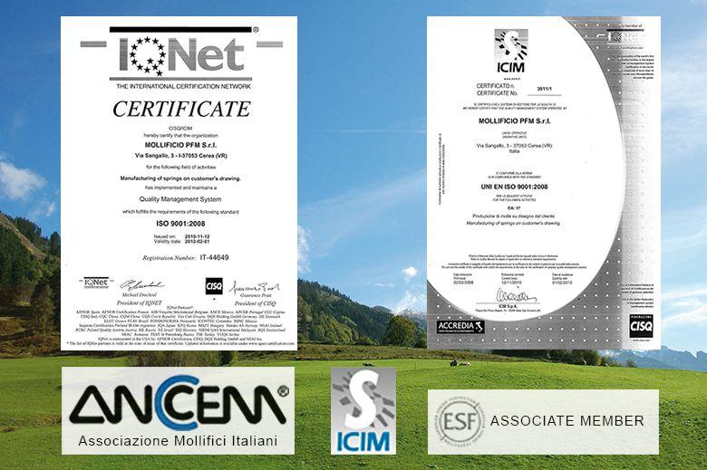 Certificazione aziendale - Mollificio PFM